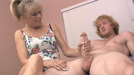 sexy matures plays with dildo