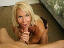 Erica Lauren jacking off a cock
