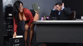 pretty latina in office