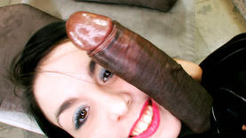 curvy brunette whore gets bbc