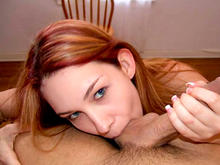Red Haired Girl Sucks Big Cock