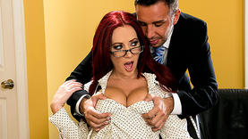 big tits red head milf gets cock in her ass