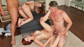 skinny lesbians getting group sex