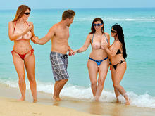 Sara Jay, Charlee Chase, Holly Halston & Levi Cash in Seduced by a cougar