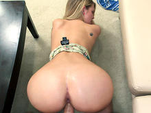 Amateur Blonde With A Fat Ass Sucks Dick, Then Bent Over And Fucked!