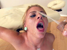 Cameron Canada receiving huge facial and eating cum