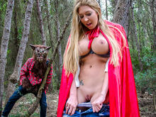Big tit creampie outsides in the woods