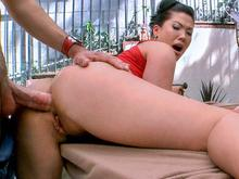 Asian Babe with Natural Big Tits Getting Hardcore Anal