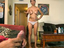 Sexy Latina House Maid Gets Fucked While She Cleans