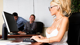 big tits business women in the office