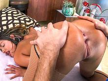 August Ames orgasms on the dick