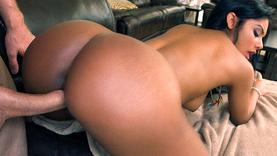 brunette ebony takes cock so deep