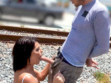 Adriana Squirts From Anal in Public