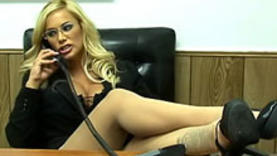 blond pornstar getting rough sex in the office