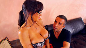brown hair milf gets facial with doctor