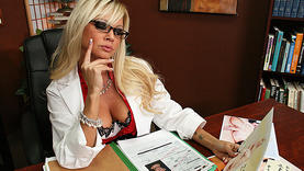 big tits milf gets a lot of cum with doctor
