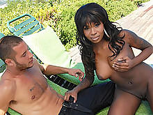 Tatiyana Pleasing Pretty Boy Danny In The Backyard